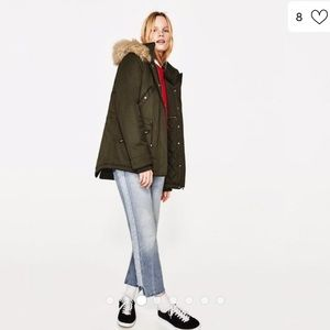 Zara Trafuluc Jacket in Army Green